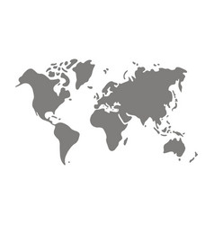 icon with world map and world continents vector image