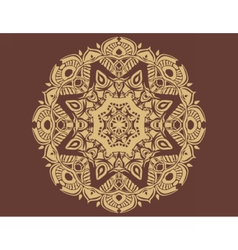 Indian lace ornament vector