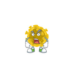 Infectious coronavirus mascot showing angry face vector