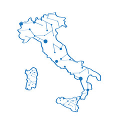 isolated map of italy vector image