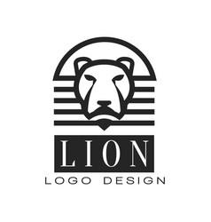 Lion logo design element for poster banner vector
