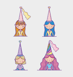 Little princess cartoons vector