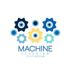 Machine learning process and data science vector