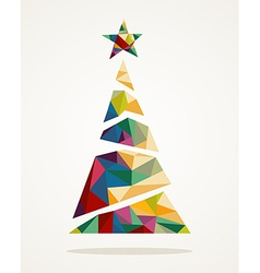 Merry Christmas trendy abstract tree EPS10 file vector image