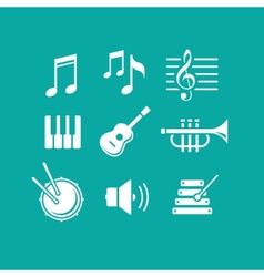Music icons for app vector image
