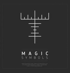 Mythological magic sign on gray vector