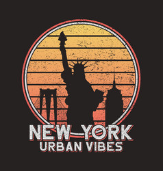 New york slogan typography for design t-shirt vector