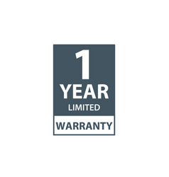 One year limited warranty icon or label vector