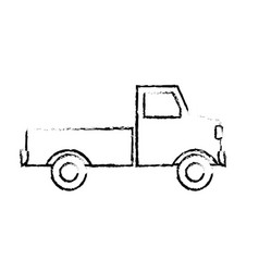 pickup truck delivery icon sign modern simple vector image