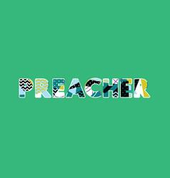 Preacher concept word art vector
