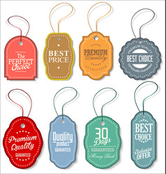 sale tag collection vector image