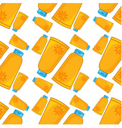 Seamless pattern tile cartoon with sunscreen vector