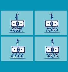 set business teamwork together business finance vector image