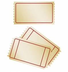 Set of old paper tickets vector