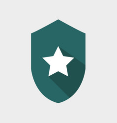 shield icon with star vector image