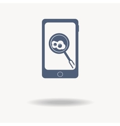 smartphone icon with food on the screen Online vector image