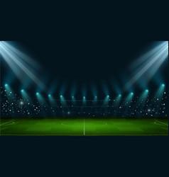 soccer arena realistic european football stadium vector image