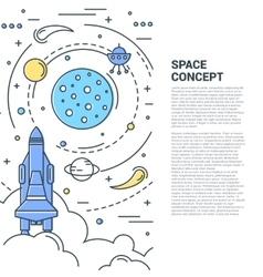 Space vertical line art concept vector