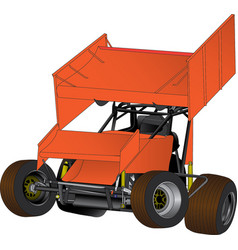 Sprint car vector
