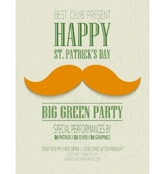 St Patricks Day retro poster vector image