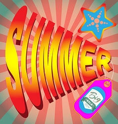 Summer Big Sale Banner vector image