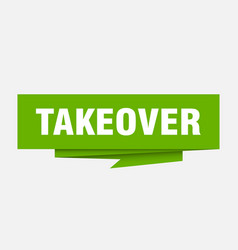 takeover vector image