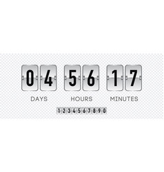 Time remaining template realistic style vector