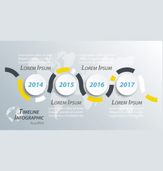timeline infographic for business presentation vector image