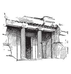 Tomb at beni-hassan or bani beni hasan vintage vector