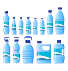 water plastic bottle beverage plastic glass vector image