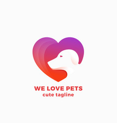 We love pets abstract symbol sign or logo vector