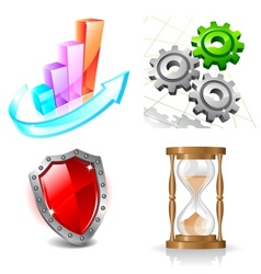 Web business icons vector image