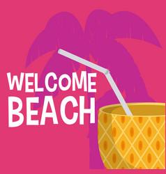 welcome beach cartoons vector image