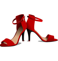 Fashion woman red shoes vector