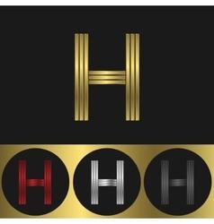 H Letter logo vector image vector image