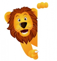 lion with banner vector image vector image