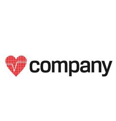 heart beats logo vector image