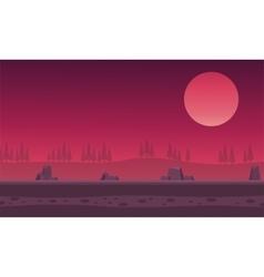 Landscape hills rock for backgrounds game vector image vector image