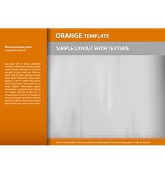 template orange s vector image