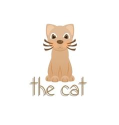 The cat cartoon kitty vector image vector image