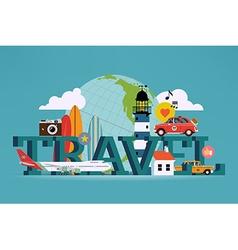 Travel banner vector