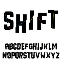 Abstract shift alphabet vector image vector image