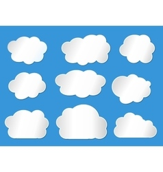 clouds line vector image vector image