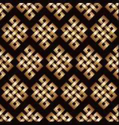 golden endless knot background vector image