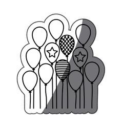 Isolated party balloon design vector