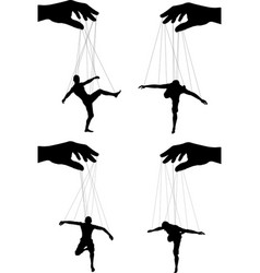 marionettes vector image