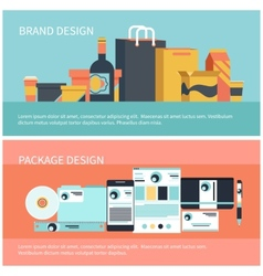 Package and brand design vector image