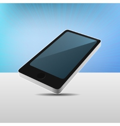 Realistic 3D View Modern Mobile Phone vector image