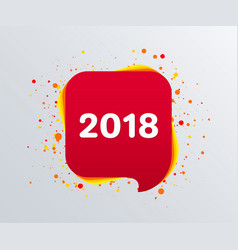2018 new year text on speech bubble vector image