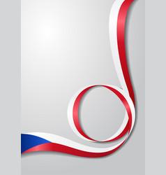 czech flag wavy background vector image vector image